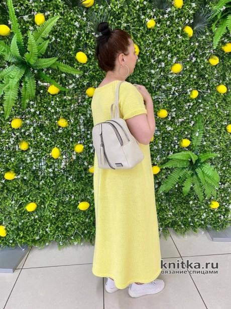 Платье спицами Лимонное настроение вязание и схемы вязания