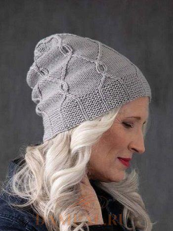 Женская шапка бини спицами Unbound. Вязание спицами.