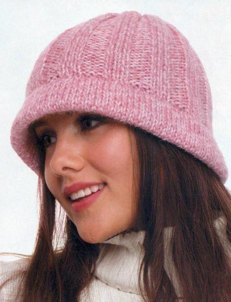 Как связать осеннюю шляпку спицами