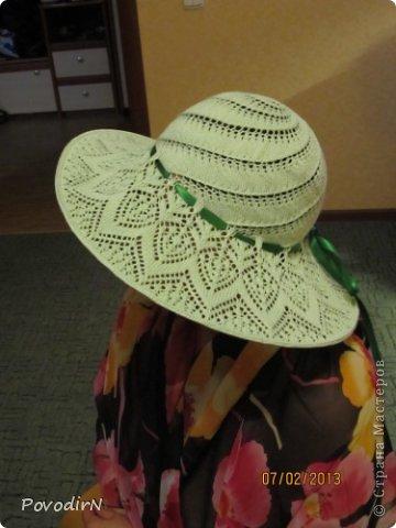 Летняя шляпа спицами для женщин