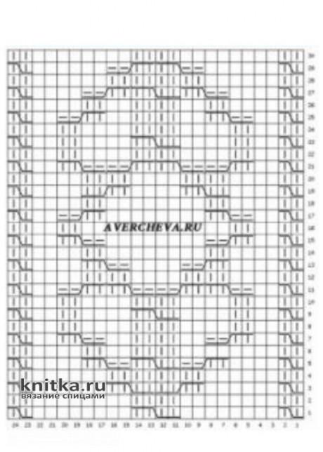 Женский пуловер спицами. Работа Ольги Остапенко вязание и схемы вязания