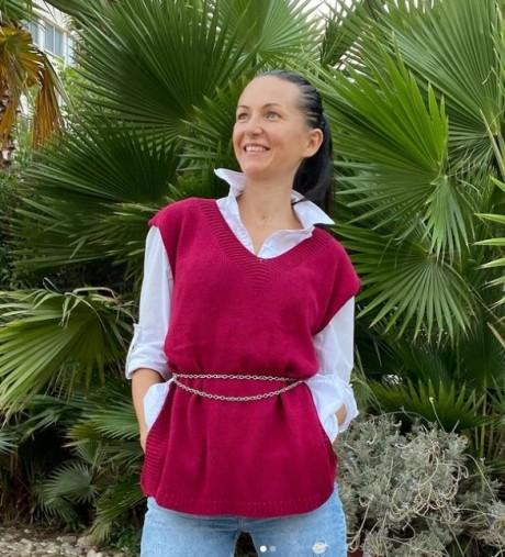 Простой жилет для женщин спицами. Вязание спицами.