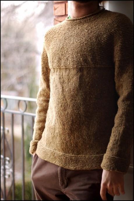 Мужской пуловер спицами COBBLESTONE PULLOVER