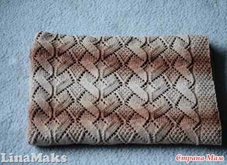Подборка узоров для вязания пледа спицами