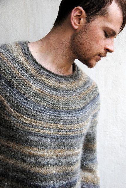 Мужской пуловер спицами 1