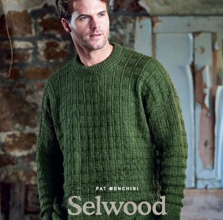 Мужской вязаный свитер SELWOOD. Вязание спицами.