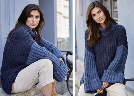 Теплый свитер оверсайз из толстой пряжи