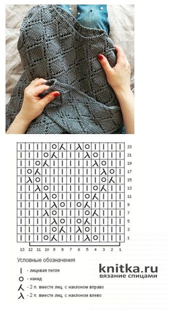 Ажурный джемпер цвета пудры спицами. Работа Валерии вязание и схемы вязания