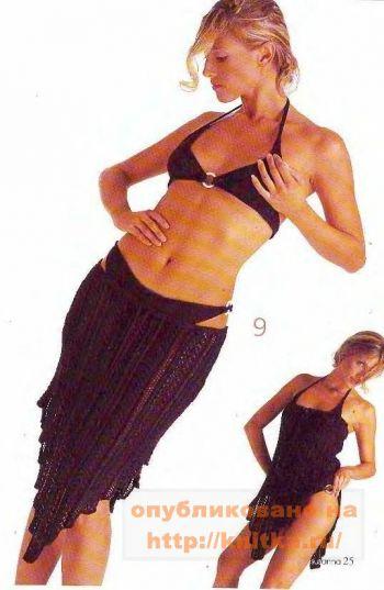 Вязание юбки спицами. Вязание спицами.