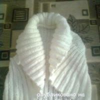 Вязаное спицами болеро – работа Валерии