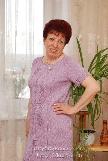 Вязаные спицами платья. Новые работы Александры.. Вязание спицами.