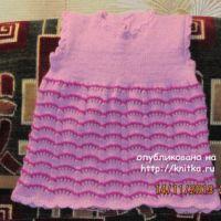 Вязаное платье – работа Ольги