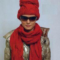 Красная шапочка и шарф