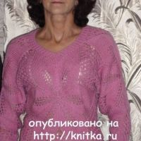 Ажурный пуловер - работа Марии