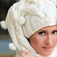 Шапка-шарф спицами