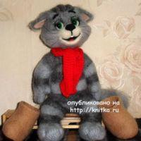 Вязаный кот Матроскин – работа Ирины