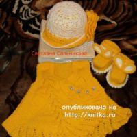 Платье, пинетки и шапочка – работы Светланы