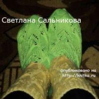 Носки спицами – работы Светланы Сальниковой