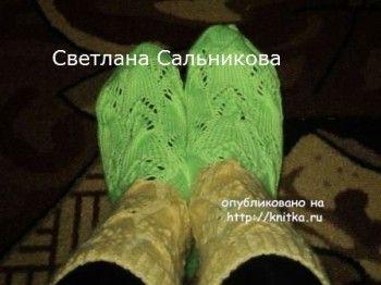 Носки спицами – работы Светланы Сальниковой. Вязание спицами.