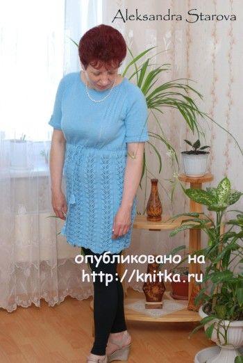 Работы Александры Старовой. Вязание спицами.