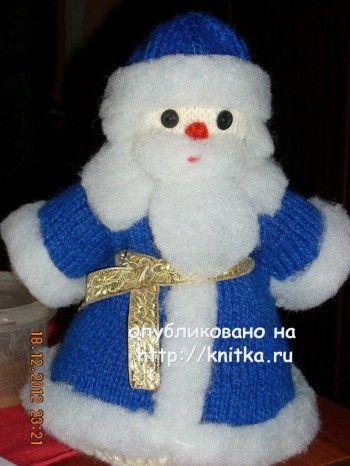 Дед Мороз связаннный спицами. Вязание спицами.