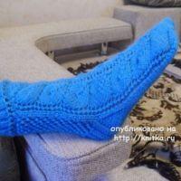 Вязаные носки – работа Ольги