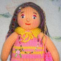 Вязаные спицами игрушки – работы Алены