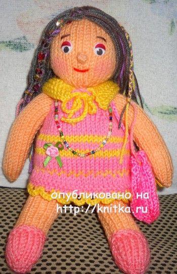 Вязаные спицами игрушки – работы Алены. Вязание спицами.