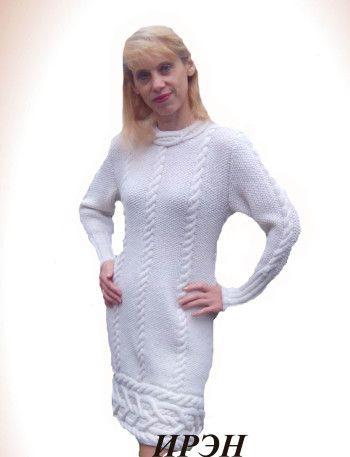 """Платье """"Снегурочка"""" – работа Ирины. Вязание спицами."""