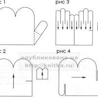 Вязание варежек и перчаток. Часть 4