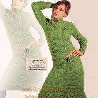 Вязаная юбка и джемпер