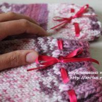 Вязаные носки – работа  Вероники Лукашёнок