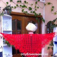 Вязаные спицами шали – работы Любови Жучковой