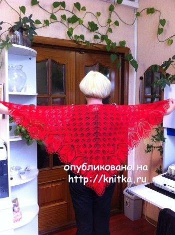 Вязаные спицами шали – работы Любови Жучковой. Вязание спицами.