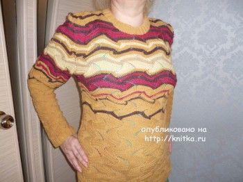 Пуловер Миссони – работа Lysua. Вязание спицами.