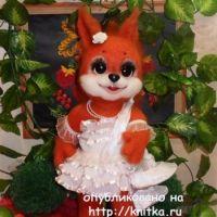 Вязаная игрушка – работа Ирины