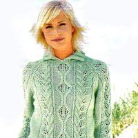 Узорчатый пуловер реглан