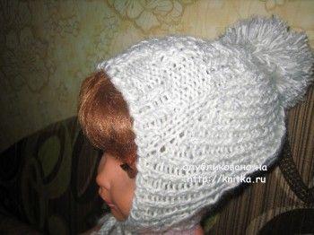 Шаль и шапочка – работы Gunta Minalgo. Вязание спицами.