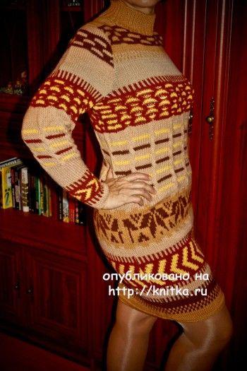 Работы Анжелы. Вязание спицами.