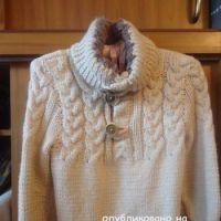 Вязаный свитер для мальчика – работа Лилии