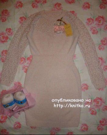 Копия платья от Victoria's Secret – работа Лилии. Вязание спицами.