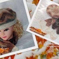Комплект Осенний лист – работа Ирины Кангаш