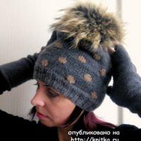 Вязаные шапки – работы Татьяны
