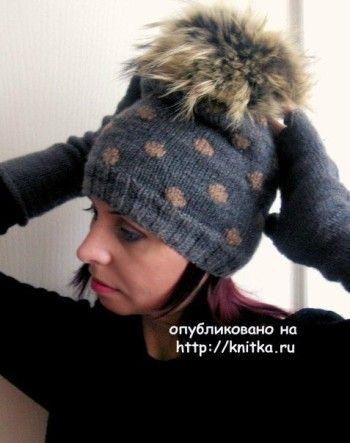 Вязаные шапки – работы Татьяны. Вязание спицами.