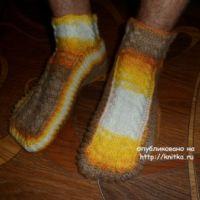 Мужские носки спицами – работа Ольги