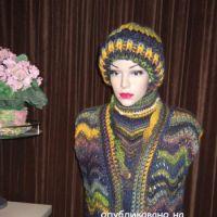 Жилет волна – работа Марии Казановой