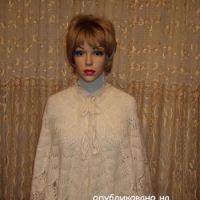 Накидка спицами – работа Марии Казановой