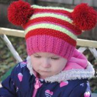 Зимняя шапочка для девочки – работа Татьяны