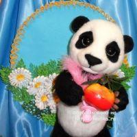 Панда в смешанной технике – работа Ирины