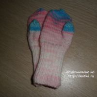 Варежки рукавички для девочки. МК от Ольги